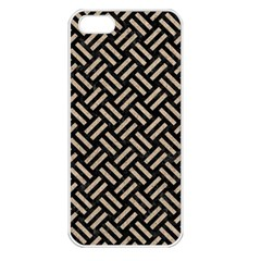 Woven2 Black Marble & Sand (r) Apple Iphone 5 Seamless Case (white)