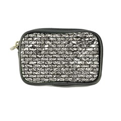 Brick1 Black Marble & Silver Foil Coin Purse