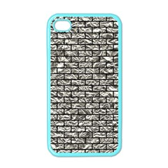 Brick1 Black Marble & Silver Foil Apple Iphone 4 Case (color)