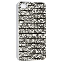 Brick1 Black Marble & Silver Foil Apple Iphone 4/4s Seamless Case (white)