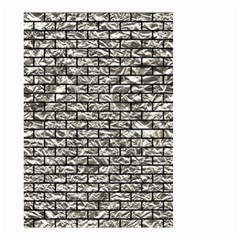 Brick1 Black Marble & Silver Foil Small Garden Flag (two Sides)