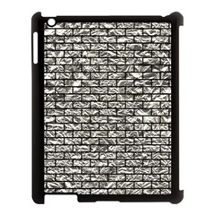 Brick1 Black Marble & Silver Foil Apple Ipad 3/4 Case (black)