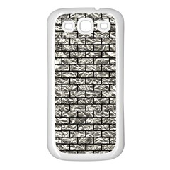 Brick1 Black Marble & Silver Foil Samsung Galaxy S3 Back Case (white)