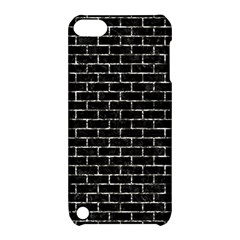 Brick1 Black Marble & Silver Foil (r) Apple Ipod Touch 5 Hardshell Case With Stand