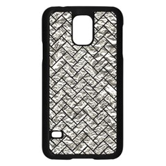Brick2 Black Marble & Silver Foil Samsung Galaxy S5 Case (black)