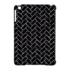 Brick2 Black Marble & Silver Foil (r) Apple Ipad Mini Hardshell Case (compatible With Smart Cover)