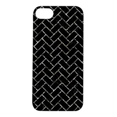 Brick2 Black Marble & Silver Foil (r) Apple Iphone 5s/ Se Hardshell Case