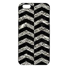 Chevron2 Black Marble & Silver Foil Iphone 6 Plus/6s Plus Tpu Case