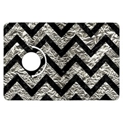 Chevron9 Black Marble & Silver Foil Kindle Fire Hdx Flip 360 Case
