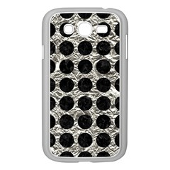Circles1 Black Marble & Silver Foil Samsung Galaxy Grand Duos I9082 Case (white)