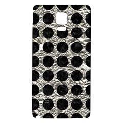 Circles1 Black Marble & Silver Foil Galaxy Note 4 Back Case
