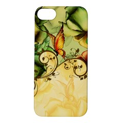Wonderful Flowers With Butterflies, Colorful Design Apple Iphone 5s/ Se Hardshell Case