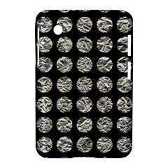 Circles1 Black Marble & Silver Foil (r) Samsung Galaxy Tab 2 (7 ) P3100 Hardshell Case