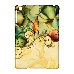 Wonderful Flowers With Butterflies, Colorful Design Apple Ipad Mini Hardshell Case (compatible With Smart Cover)