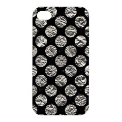 Circles2 Black Marble & Silver Foil (r) Apple Iphone 4/4s Hardshell Case