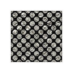 Circles2 Black Marble & Silver Foil (r) Acrylic Tangram Puzzle (4  X 4 )