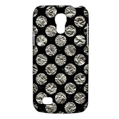 Circles2 Black Marble & Silver Foil (r) Galaxy S4 Mini