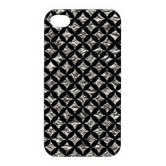Circles3 Black Marble & Silver Foil Apple Iphone 4/4s Hardshell Case