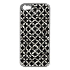 Circles3 Black Marble & Silver Foil (r) Apple Iphone 5 Case (silver)