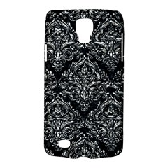 Damask1 Black Marble & Silver Foil (r) Galaxy S4 Active