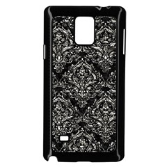 Damask1 Black Marble & Silver Foil (r) Samsung Galaxy Note 4 Case (black)