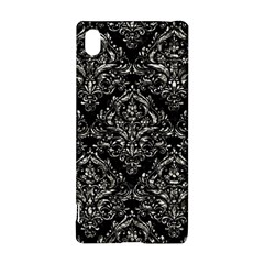Damask1 Black Marble & Silver Foil (r) Sony Xperia Z3+