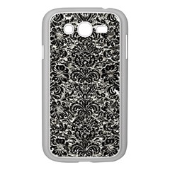Damask2 Black Marble & Silver Foil Samsung Galaxy Grand Duos I9082 Case (white)