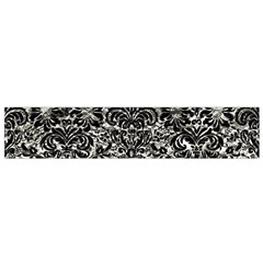 Damask2 Black Marble & Silver Foil Small Velour Scarf
