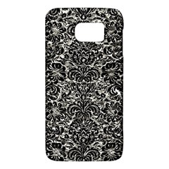 Damask2 Black Marble & Silver Foil Galaxy S6