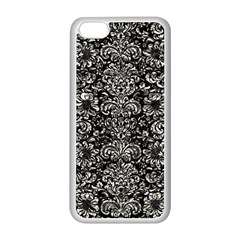 Damask2 Black Marble & Silver Foil (r) Apple Iphone 5c Seamless Case (white)