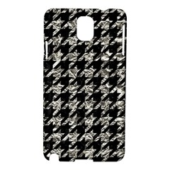 Houndstooth1 Black Marble & Silver Foil Samsung Galaxy Note 3 N9005 Hardshell Case