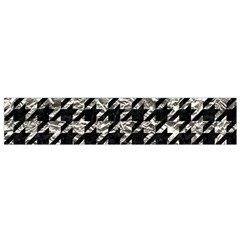 Houndstooth1 Black Marble & Silver Foil Small Velour Scarf