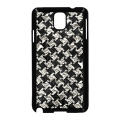 Houndstooth2 Black Marble & Silver Foil Samsung Galaxy Note 3 Neo Hardshell Case (black)