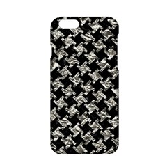 Houndstooth2 Black Marble & Silver Foil Apple Iphone 6/6s Hardshell Case