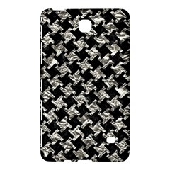 Houndstooth2 Black Marble & Silver Foil Samsung Galaxy Tab 4 (7 ) Hardshell Case
