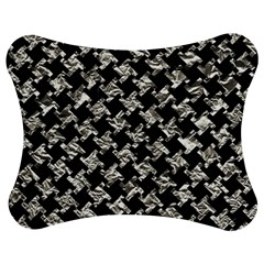 Houndstooth2 Black Marble & Silver Foil Jigsaw Puzzle Photo Stand (bow)