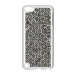 Hexagon1 Black Marble & Silver Foil Apple Ipod Touch 5 Case (white)