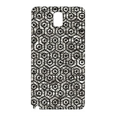 Hexagon1 Black Marble & Silver Foil Samsung Galaxy Note 3 N9005 Hardshell Back Case