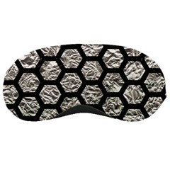 Hexagon2 Black Marble & Silver Foil Sleeping Masks