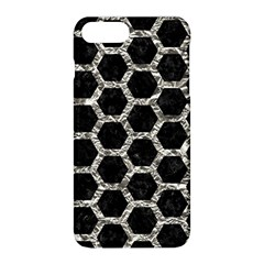 Hexagon2 Black Marble & Silver Foil (r) Apple Iphone 8 Plus Hardshell Case