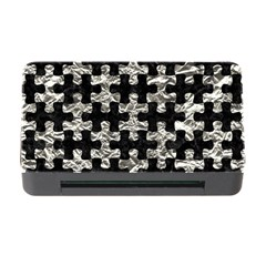 Puzzle1 Black Marble & Silver Foil Memory Card Reader With Cf