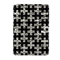 Puzzle1 Black Marble & Silver Foil Samsung Galaxy Tab 2 (10 1 ) P5100 Hardshell Case