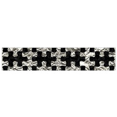 Puzzle1 Black Marble & Silver Foil Small Velour Scarf