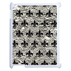 Royal1 Black Marble & Silver Foil (r) Apple Ipad 2 Case (white)