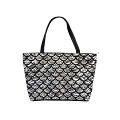Scales1 Black Marble & Silver Foil Shoulder Handbags