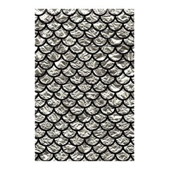 Scales1 Black Marble & Silver Foil Shower Curtain 48  X 72  (small)