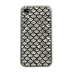 Scales1 Black Marble & Silver Foil Apple Iphone 4 Case (clear)