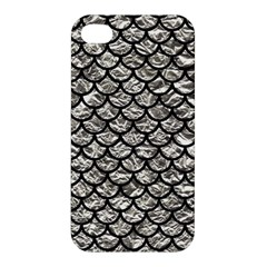 Scales1 Black Marble & Silver Foil Apple Iphone 4/4s Hardshell Case