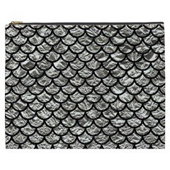 Scales1 Black Marble & Silver Foil Cosmetic Bag (xxxl)
