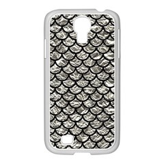 Scales1 Black Marble & Silver Foil Samsung Galaxy S4 I9500/ I9505 Case (white)